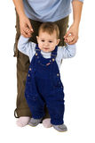 Boy learn to walk Royalty Free Stock Photo