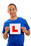 Boy learner driver Royalty Free Stock Photography