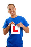 Boy learner driver Stock Photos