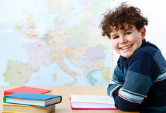 Boy learning Royalty Free Stock Photos
