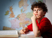 Boy learning stock photos