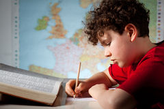 Boy learning Stock Images