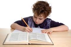 Boy learning royalty free stock photos