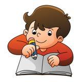 Boy Learning. Illustrator design .eps 10 Royalty Free Stock Photography