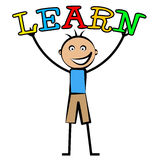 Boy Learning Represents College School And Studying. Boy Learning Meaning Development University And Educate Stock Photos