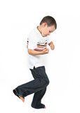 Boy learning to box  Royalty Free Stock Photo
