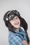 Boy with leather Cap folded arms Stock Photography