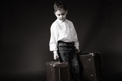Boy leaving Stock Photos