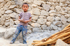 Boy in Leh Royalty Free Stock Images
