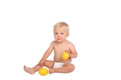 Boy with lemon Royalty Free Stock Image