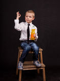 boy with lemonade Stock Photo