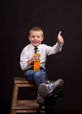 Boy with lemonade stock photos