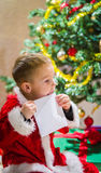 Boy and letter Royalty Free Stock Images