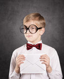 Boy with the letter Royalty Free Stock Image