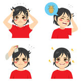 Boy With Lice Royalty Free Stock Photo