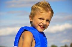 Boy in lifejacket Stock Image