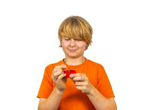 Boy likes to play with matches Royalty Free Stock Photos