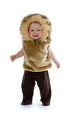 Boy in lion costume Royalty Free Stock Photography