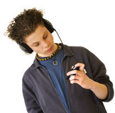 Boy is listening Royalty Free Stock Image