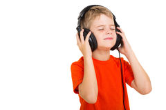 Boy listening music Royalty Free Stock Photo