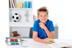 Boy listening music Royalty Free Stock Photography