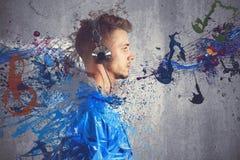 Free Boy Listening To Music Stock Photo - 30197760