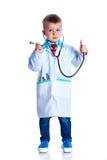 Boy little doctor Stock Photo
