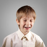 Boy little emotional attractive set make faces Stock Photos