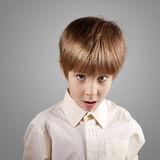 Boy little emotional attractive set make faces Stock Photography