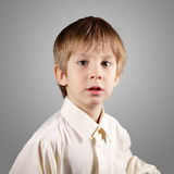 Boy little emotional attractive set make faces Royalty Free Stock Photo