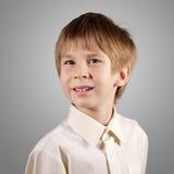Boy little emotional attractive set make faces Stock Photos