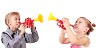 Boy and little girl Stock Photography