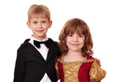 Boy and little girl posing Stock Images