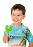Boy with a lollipop Royalty Free Stock Photo