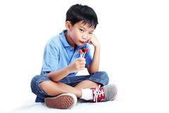 Boy And Lollipop Royalty Free Stock Images