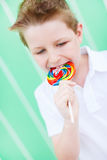 Boy with lollipop Stock Photography