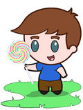 Boy and Lollypop Royalty Free Stock Photo