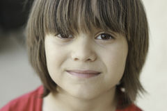 Boy with long bangs Royalty Free Stock Photography