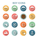 Boy long shadow icons Stock Image