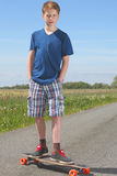 Boy with longboard Royalty Free Stock Images