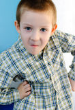 Boy with a look of surprise Royalty Free Stock Photos