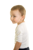 Boy Looking. Boy on a white background look Stock Image