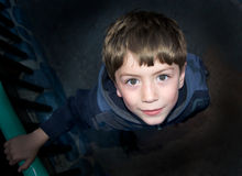 Boy looking at camera Royalty Free Stock Photos