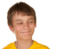 Boy looking at copyspace Royalty Free Stock Images
