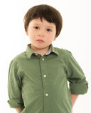 Boy looking serious Stock Photography