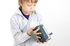 Boy looking to camera Royalty Free Stock Photography