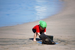 Boy on beach Royalty Free Stock Photos