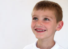 Boy looking up. Smiling boy looking up Royalty Free Stock Photo