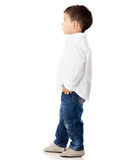 Boy looking up Stock Images
