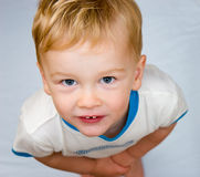 Boy looking up Royalty Free Stock Photography